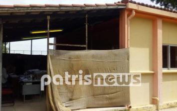 Εκλογές 2019: Το εκλογικό κέντρο-παράγκα σε δήμο της Ηλείας