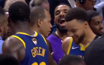 NBA: Ο Drake έκλεψε λίγη από τη δόξα του Σιάκαμ στο Ράπτορς-Ουόριορς