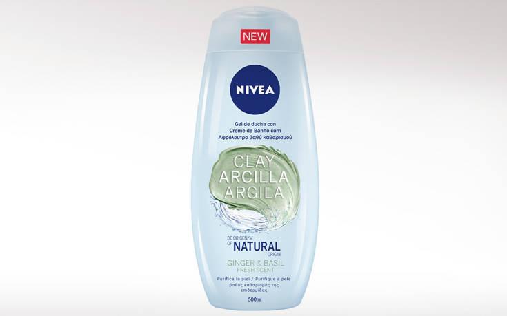 Νέα σειρά NIVEA Clay Fresh Showers