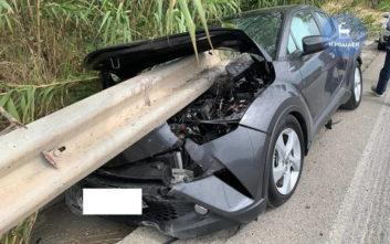 Σοκαριστικό τροχαίο στη Ρόδο: Προστατευτικό κιγκλίδωμα διαπέρασε αυτοκίνητο