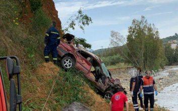 Βουτιά θανάτου για αυτοκίνητο από γέφυρα στα Χανιά
