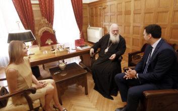 Κικίλιας - Μπαλατσινού στον Αρχιεπίσκοπο Ιερώνυμο λίγο πριν τον γάμο