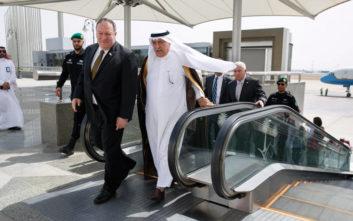 Έφτασε στη Σαουδική Αραβία ο Πομπέο με φόντο την ένταση μεταξύ ΗΠΑ - Ιράν
