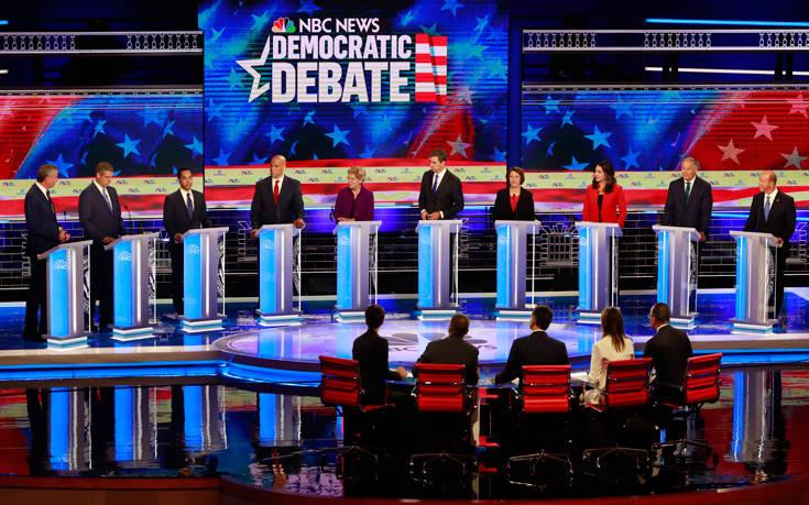 ΗΠΑ: Οικονομία, μεταναστευτικό και αμβλώσεις στο πρώτο ντιμπέιτ των Δημοκρατικών