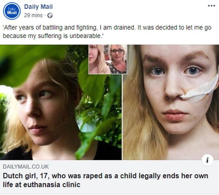 Μια 17χρονη επέλεξε την ευθανασία μετά από χρόνια μάχη με την κατάθλιψη και την κακοποίηση 2