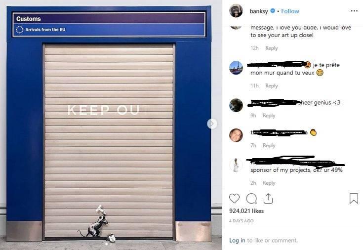 Banksy: Ο γνωστός καλλιτέχνης «μίλησε» με ένα νέο γκράφιτι κατά του Brexit