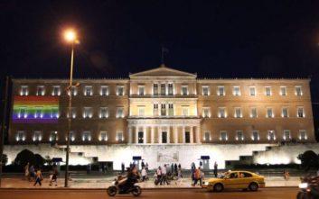 Athens Pride 2019: Η Βουλή φωτίστηκε με τα χρώματα της σημαίας ΛΟΑΤΚΙ
