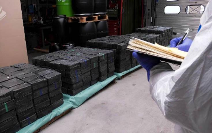 Κατασχέθηκε ποσότητα – μαμούθ 2,5 τόνων μεθαμφεταμίνης από την ολλανδική αστυνομία