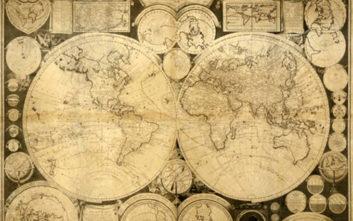 Σε δημοπρασία ο σπανιότατος χάρτης της υδρογείου που επιμελήθηκε ο Άνθιμος Γαζής