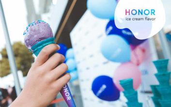Η HONOR το πρώτο Smartphone με το δικό του παγωτό