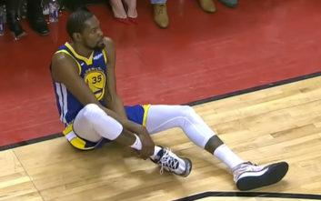 NBA: Σοκ στους Ουόριορς με Ντουράντ, έπαθε ζημιά στον αχίλλειο
