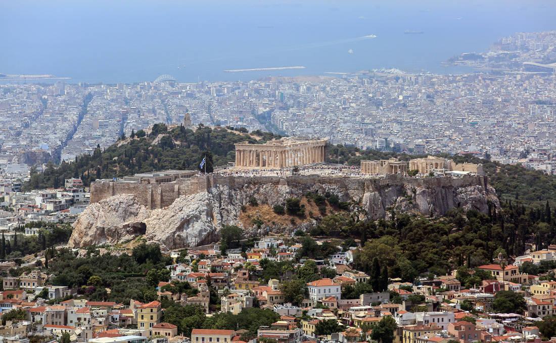 Η θέα από την κορυφή του Λυκαβηττού