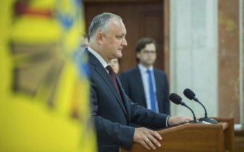 Μολδαβία: Ο πρόεδρος αρνείται τη διάλυση της Βουλής