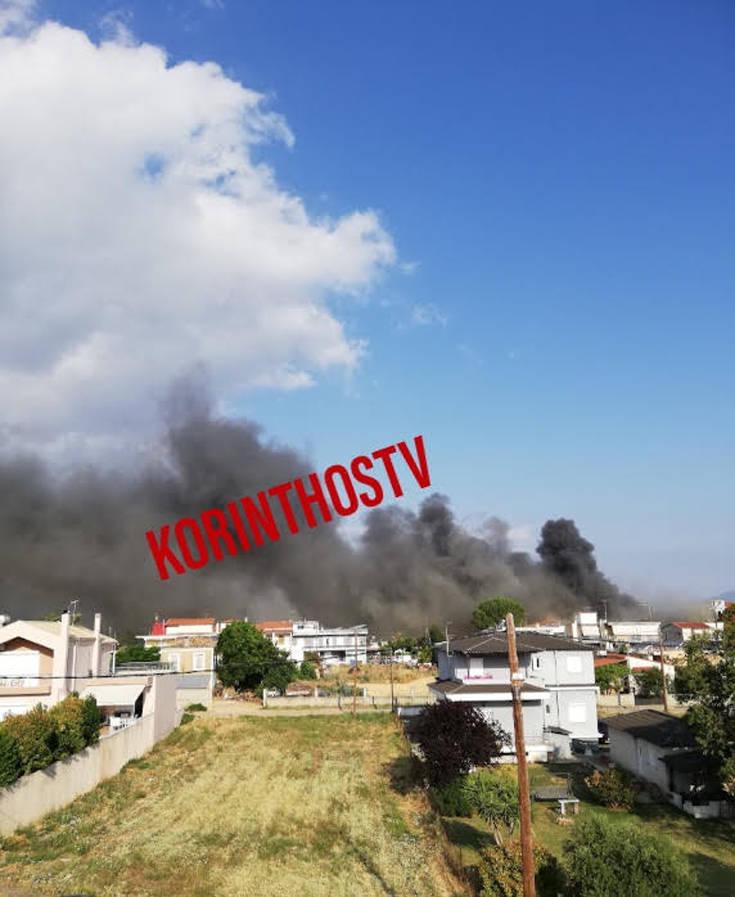 Εικόνες από την μεγάλη φωτιά σε σούπερ μάρκετ στο Χιλιομόδι Κορινθίας – Newsbeast