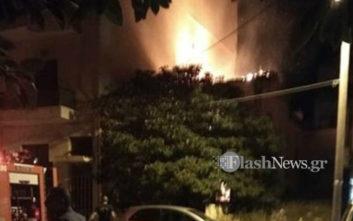 Πυρκαγιά σε παλιά μονοκατοικία στο Κουμ Καπί στα Χανιά