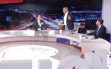 Άγρια κόντρα στον αέρα τηλεοπτικής εκπομπής μεταξύ Σκουρλέτη και Ανδρουλάκη