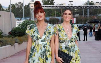 Μαίρη Συνατσάκη και Αθηνά Οικονομάκου με το ίδιο φόρεμα στα βραβεία MAD