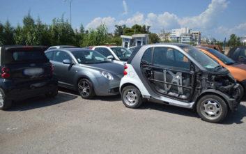 Το ρέμα στο Ζεφύρι με τα καμένα αυτοκίνητα