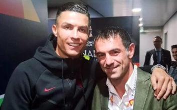 Ο Γιώργος Καραγκούνης αγκαλιά με τον Κριστιάνο Ρονάλντο