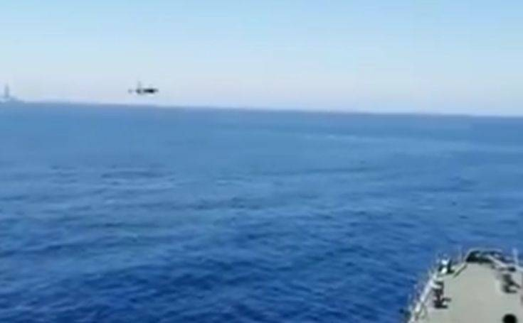 Προκλητική πτήση τουρκικών F-16 στην κυπριακή ΑΟΖ δίπλα στον Πορθητή