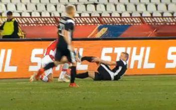 Σοκαριστικός τραυματισμός ποδοσφαιριστή στα προκριματικά του Champions League