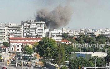 Στις φλόγες βαγόνι του ΟΣΕ στη δυτική Θεσσαλονίκη
