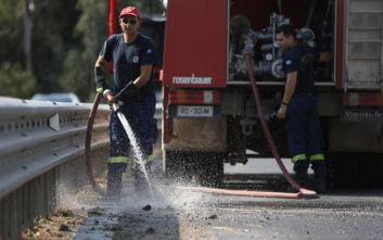 Πυρκαγιά στην περιοχή Νέος Μύρτος Ιεράπετρας στην Κρήτη