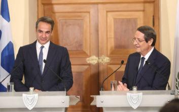 Τι είπαν για Τουρκία και κυπριακή ΑΟΖ Μητσοτάκης - Αναστασιάδης