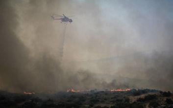 Μεγάλη φωτιά στην Τανάγρα: Απομακρύνονται άνθρωποι από μοναστήρι