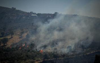 Πυρκαγιά σε χαμηλή βλάστηση στον Ασπρόπυργο- Καλύτερη εικόνα στο Ζούμπερι