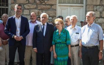 Ο Προκόπης Παυλόπουλος κατέθεσε στεφάνι στην προτομή του Σπύρου Μουστακλή