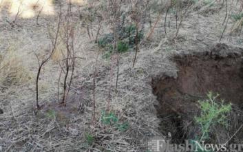 Υποχώρησε η γη μετά από δόνηση σε χωριό των Σφακίων