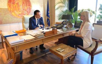 Συνάντηση της Έλενας Ράπτη με τον Άδωνι Γεωργιάδη