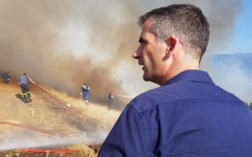 Φωτιά στη Φθιώτιδα: Στο σημείο ο Κώστας Μπακογιάννης