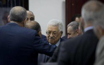 Αμπάς: Η Παλαιστινιακή Αρχή δεν θα εφαρμόζει τις συμφωνίες που έχει συνάψει με το Ισραήλ