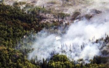 Φωτιές και λιώσιμο παγετώνων από τον καύσωνα στην Αλάσκα