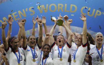 Παγκόσμιο Κύπελλο γυναικών: Πρωταθλήτριες κόσμου οι Αμερικανίδες, κέρδισαν 2-0 την Ολλανδία
