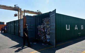 Η Ινδονησία επιστρέφει σε Γαλλία και Χονγκ Κονγκ επτά κοντέινερ με παράνομα απορρίμματα