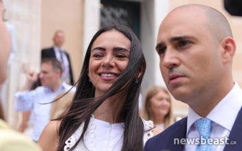 Κωνσταντίνος Μπογδάνος: Με τη σύζυγό του στην ορκωμοσία στη Βουλή