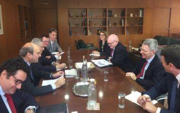 Συνάντηση του Κωστή Χατζηδάκη με τον υφυπουργό Εξωτερικών των ΗΠΑ, Φίλιπ Ρίκερ