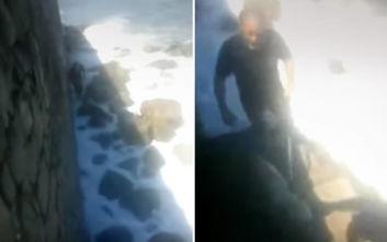Πέταξαν σκύλο μέσα στη θάλασσα στην Κρήτη