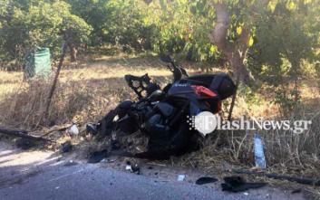 Νεκρός οδηγός μοτοσικλέτας μετά από τροχαίο στα Χανιά
