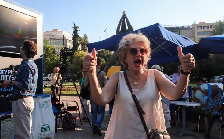 Εικόνες από το εκλογικό κέντρο της ΝΔ στην Κλαυθμώνος – Newsbeast