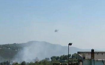 Οι πρώτες εικόνες από τη φωτιά στη Ραφήνα