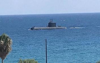 Τουρκικό υποβρύχιο ανοιχτά της κατεχόμενης Κερύνειας