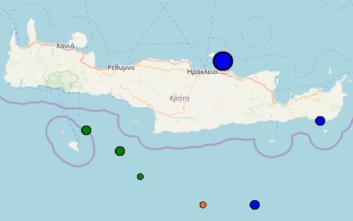 Σεισμός τώρα ανοιχτά του Ηρακλείου στην Κρήτη