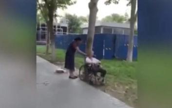 Νοσηλεύτρια έδεσε ηλικιωμένη σε δέντρο με ένα σχοινί από τον λαιμό