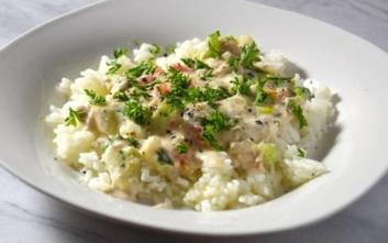 Ρύζι με τόνο και μανιτάρια
