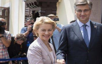 Χώρα πρότυπο χαρακτήρισε την Κροατία η Ούρσουλα φον ντερ Λάιεν