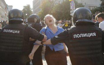 Εκατοντάδες διαδηλωτές συνέλαβε η Αστυνομία στη Μόσχα